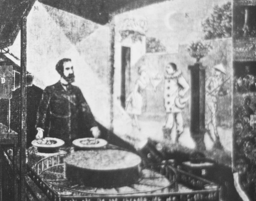 """Il """"Teatro Ottico"""" aperto da Reynaud nel 1882"""