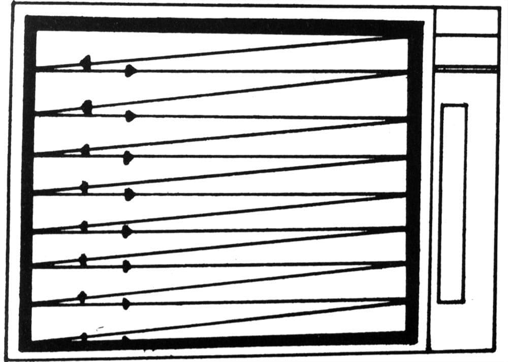 La scansione delle immagini sui vecchi televisori a tubo catodico ad 1/25 di secondo sulle 625 righe orizzontali